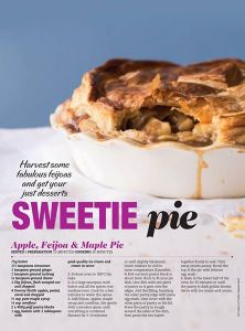 Chelsea Winter's Apple, Feijoa & Maple Pie, Woman's Day NZ